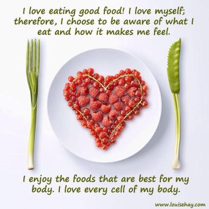 i love eating good food